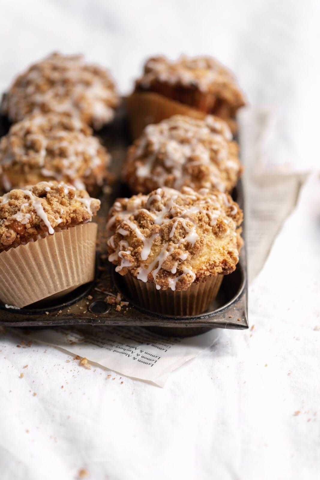 coffee cake muffins with cinnamon streusel