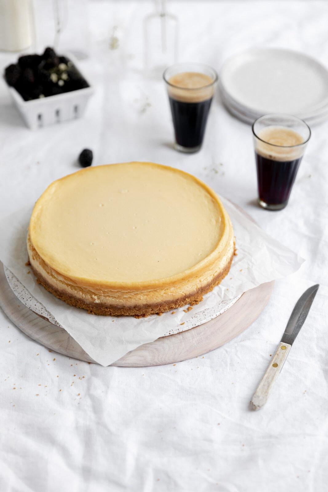 the perfect homemade cheesecake