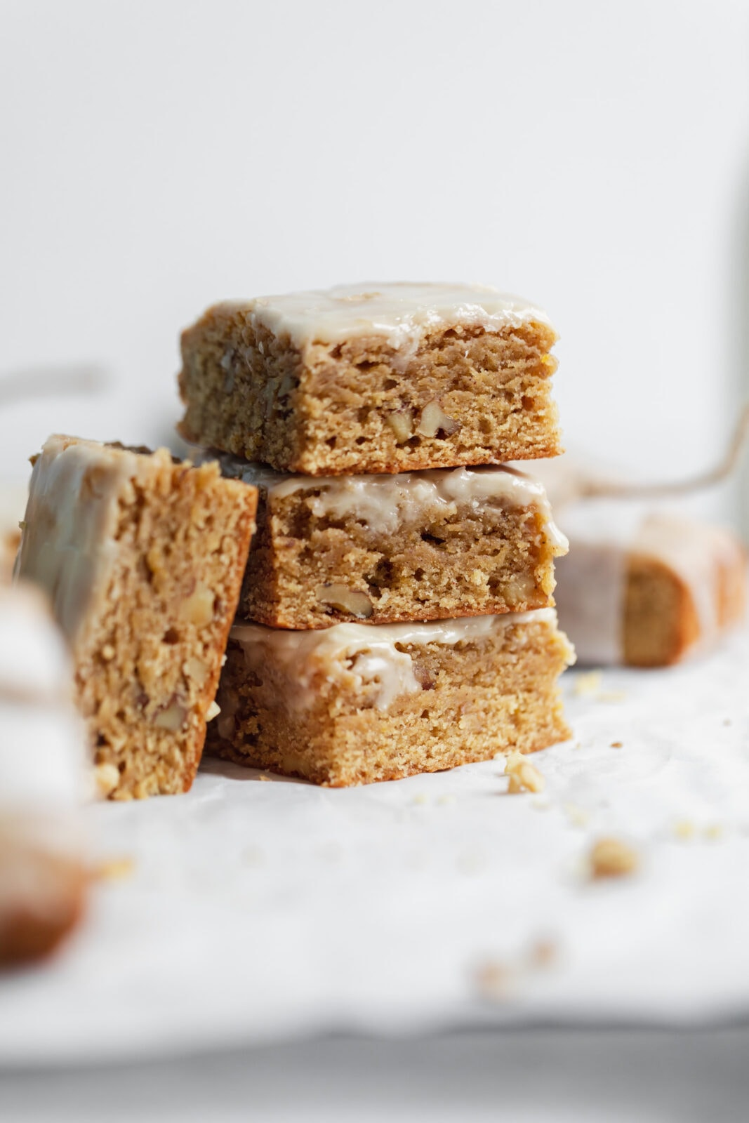stack of fall blondies