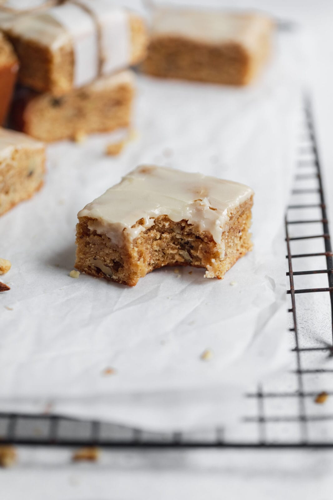 chai blondie with bite taken out