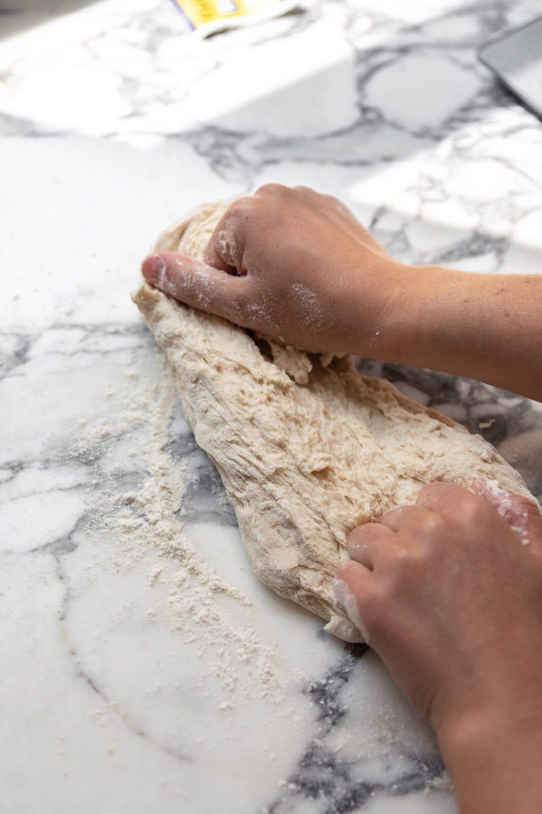 kneading dough