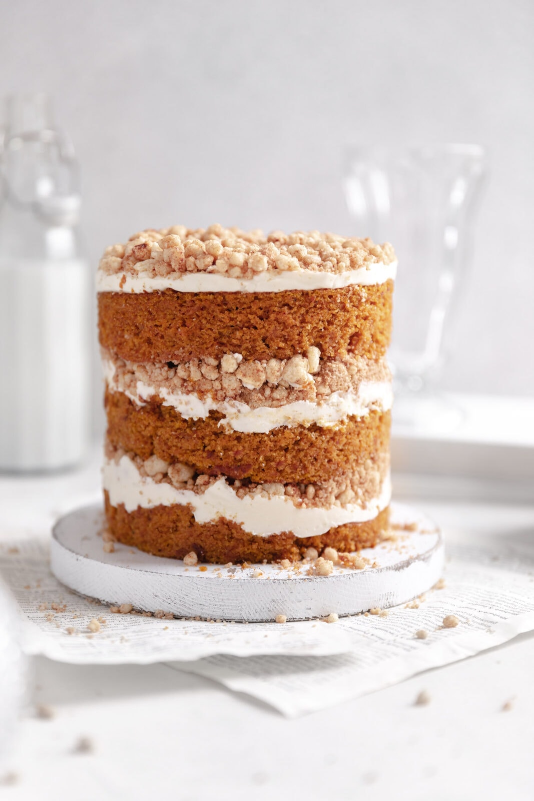 pumpkin streusel cake milk bar style